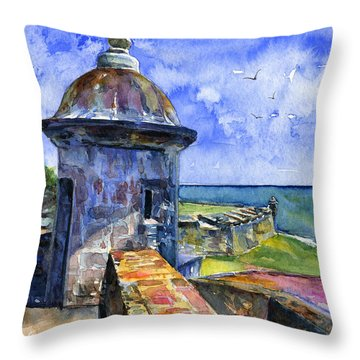 Fort San Juan Puerto Rico Throw Pillow