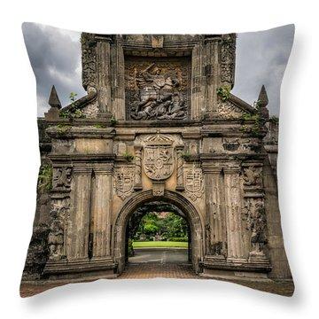 Fort Santiago Throw Pillow