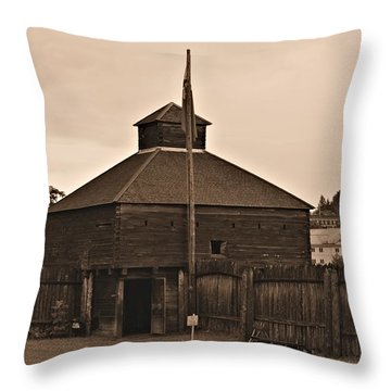 Fort Western Throw Pillow