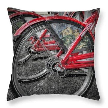 Fort Worth Bikes Throw Pillow