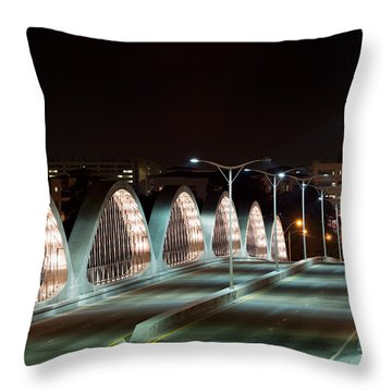 Fort Worth Seventh Street Bridge Oct 10 2014 Throw Pillow