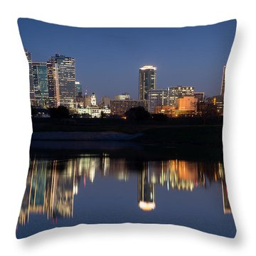 Fort Worth Skyline 020915 Throw Pillow