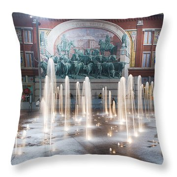Fort Worth Sundance Square Aug 2014 Throw Pillow