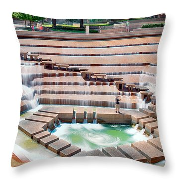 Fort Worth Water Garden V7 Throw Pillow