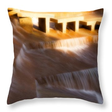 Fort Worth Water Gardens Steps Throw Pillow