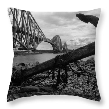 Forth Bridge Anchor Throw Pillow by Jeremy Voisey