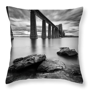 Forth Bridge Throw Pillow