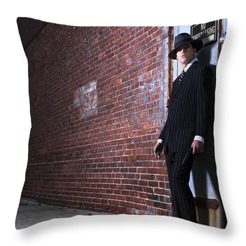 Forties Style Film Noir Gangster Throw Pillow by Diane Diederich