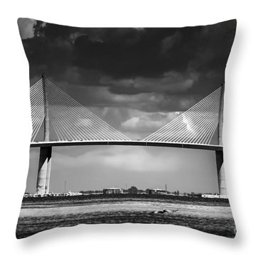 Port Of Tampa Throw Pillows