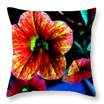 Fortinos Petunias Throw Pillow by Danielle  Parent