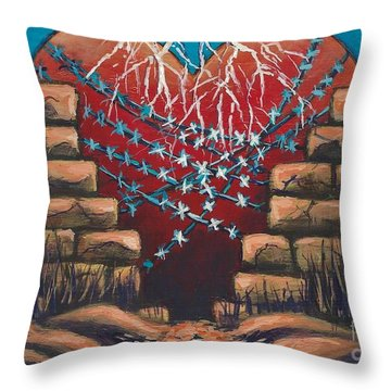 Fortress Around Your Heart Throw Pillow