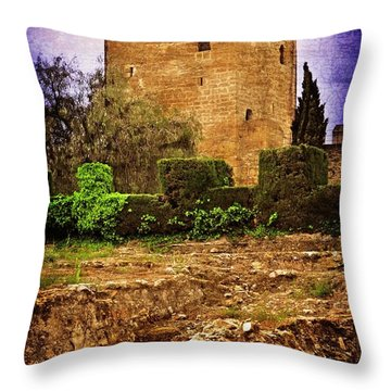 Fortress Tower Throw Pillow by Mary Machare