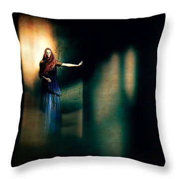 Fortune Teller Throw Pillow by Bob Orsillo