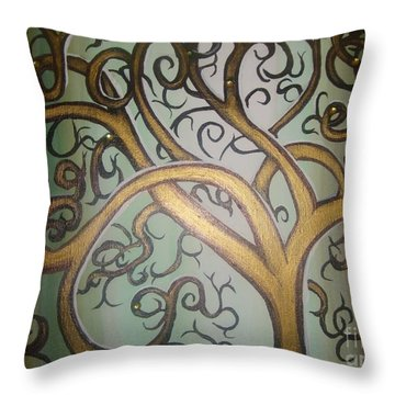 Fortune Tree Throw Pillow