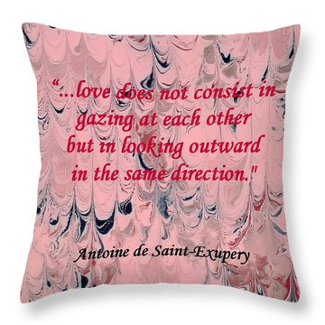Forward Looking Love Throw Pillow