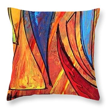 Forza Throw Pillow by Marcello Cicchini