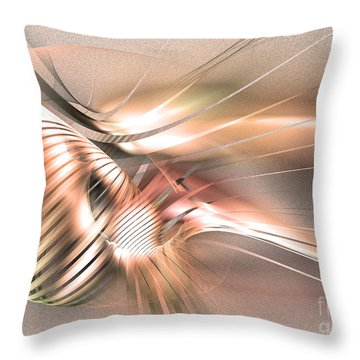 Found By Nile - Abstract Art Throw Pillow
