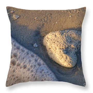 Throw Pillow featuring the photograph Found Heart by Peggy Hughes