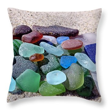 Throw Pillow featuring the photograph Found On Beach by Janice Drew