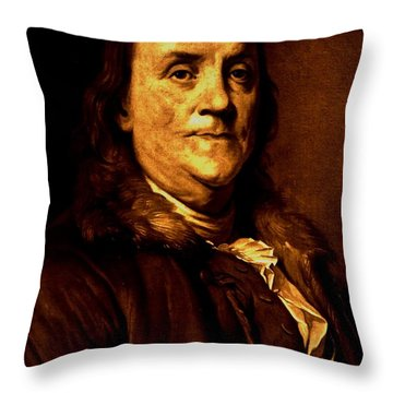 Founding Father Throw Pillow by Benjamin Yeager