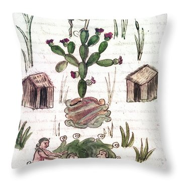 Founding Of Tenochtitlan Throw Pillow