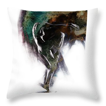 Fount II. Textured. A Throw Pillow