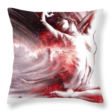 Fount Iv Textured Throw Pillow