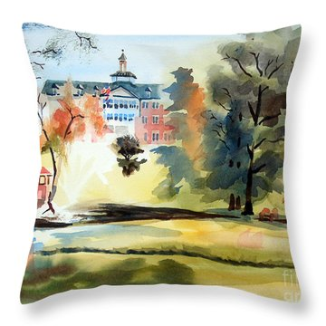 Fountain At The Baptist Home Throw Pillow by Kip DeVore