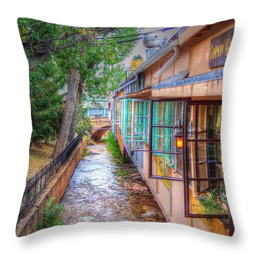 Throw Pillow featuring the photograph Fountain Creek Behind The Avenue by Lanita Williams