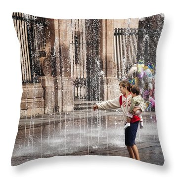 Fountain For Youth Throw Pillow