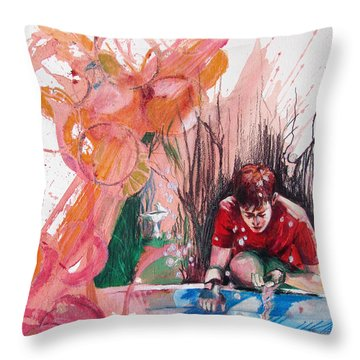 Fountain Full Of Blood Throw Pillow