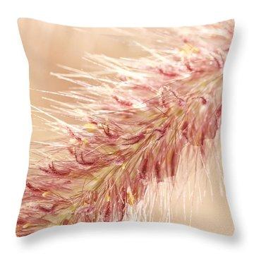 Fountain Grass Blooms   Throw Pillow