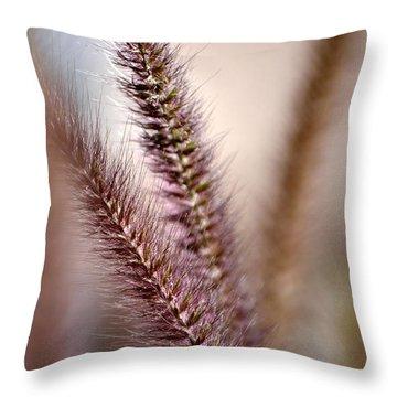 Fountain Grass Throw Pillow by Deb Halloran
