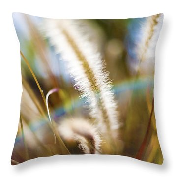 Fountain Grass Throw Pillow