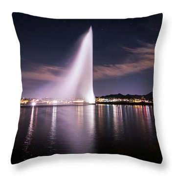 Fountain Hills At Night Throw Pillow