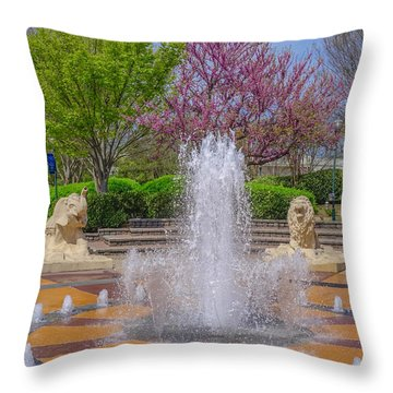 Fountain In Coolidge Park Throw Pillow