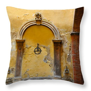 Fountain In Sienna Throw Pillow