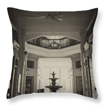 Fountain In The Light Throw Pillow