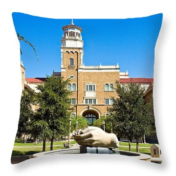Throw Pillow featuring the photograph Fountain Of Knowledge by Mae Wertz
