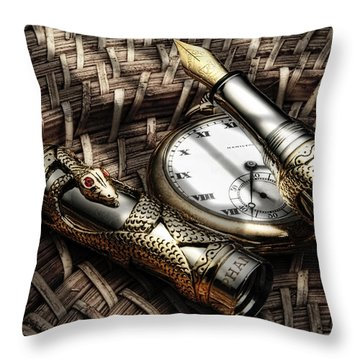 Fountain Pen Still Life Throw Pillow