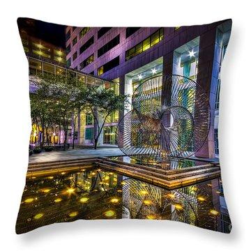 Fountain Reflection Throw Pillow