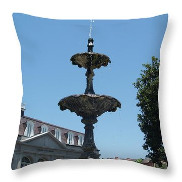 Throw Pillow featuring the painting Fountain  by Robin Maria Pedrero