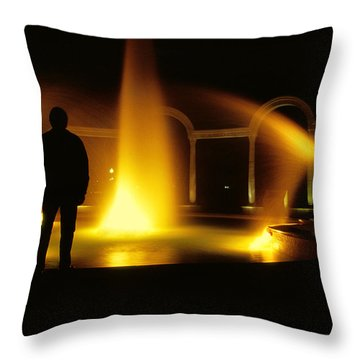 Throw Pillow featuring the photograph Fountain Silhouette by Jason Politte