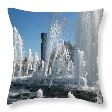 Throw Pillow featuring the photograph Fountain by Susanne Baumann