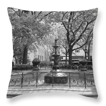 Fountain Time Throw Pillow by Catie Canetti