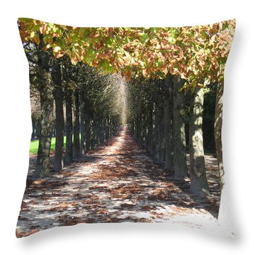 Fountainebleau - Under The Trees Throw Pillow