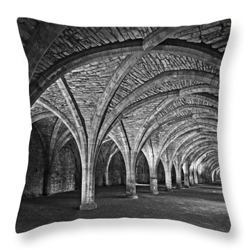 Fountains Abbey Cloister Throw Pillow