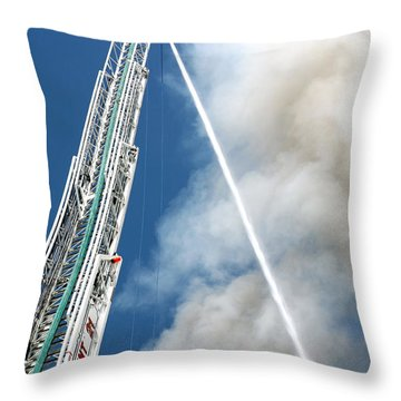 Four Alarm Blaze 001 Throw Pillow by Lon Casler Bixby