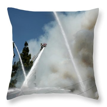 Four Alarm Blaze 003 Throw Pillow by Lon Casler Bixby