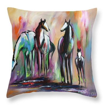Four Throw Pillow by Cher Devereaux